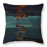 Dingle Quay By Night Detail 1 On The Wild Atlantic Way Of Western Ireland Throw Pillow