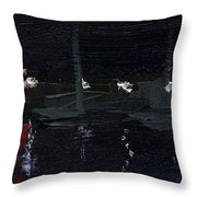Dingle Quay By Night Detail 5 On The Wild Atlantic Way Of Western Ireland Throw Pillow