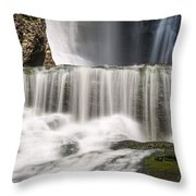 Dingmans Falls Close Up Throw Pillow