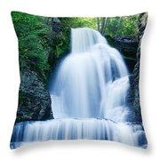 Dingmans Ferry Falls Throw Pillow