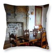 Dining At Donegal Castle Throw Pillow