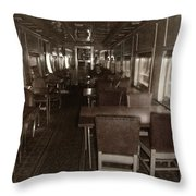 Dining Car Throw Pillow