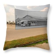 Dining Hall At Sakonnet Point In Little Compton Ri Throw Pillow