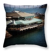 Dining On The Bay Throw Pillow