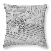 Dining On The Street Throw Pillow
