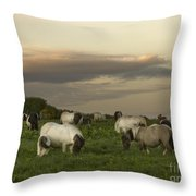 Dining Ponies Throw Pillow