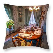 Dining Room And Dinner Table Throw Pillow