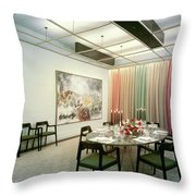 Dining Room In Mr. And Mrs. Williams A.m Throw Pillow