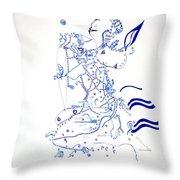Dinka Embrace Throw Pillow