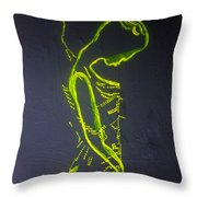 Dinka Painted Lady Throw Pillow