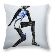 Dinka Silhouette - South Sudan Throw Pillow