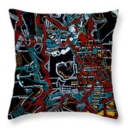 Dinka - South Sudan Throw Pillow