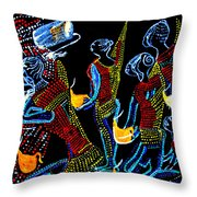 Dinka Wise Virgins Throw Pillow by Gloria Ssali