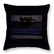 Dinner At The Pier Throw Pillow