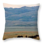 Dinner In The Bushes Throw Pillow