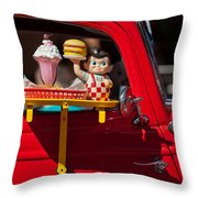 Dinner Is Served Throw Pillow