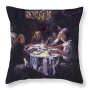 Dinner Party Throw Pillow