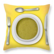 Dinner Setting 02 Throw Pillow