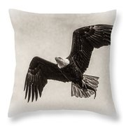 Dinner Time Black And White Throw Pillow