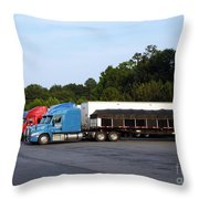 Dinner Time For Truckers Throw Pillow