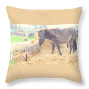 It's Time You Join Us For Dinner  Throw Pillow