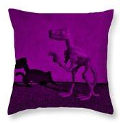 Dino Dark Purple... Barney Throw Pillow