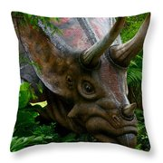 Dino In The Bronx Five Throw Pillow