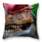 Dino In The Bronx Four Throw Pillow