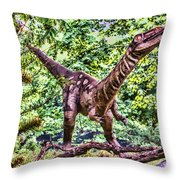 Dino In The Bronx One Throw Pillow