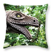 Dino In The Bronx Seven Throw Pillow