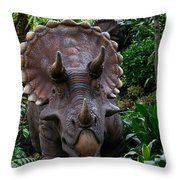 Dino In The Bronx Six Throw Pillow
