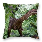 Dino In The Bronx Three Throw Pillow