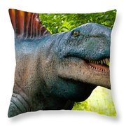 Dino In The Bronx Two Throw Pillow