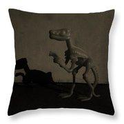 Dino Monochrome Throw Pillow