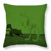 Dino Olive Throw Pillow