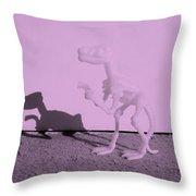 Dino Pink Throw Pillow