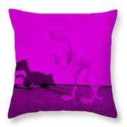 Dino Purple... Barney Throw Pillow