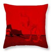 Dino Red Throw Pillow