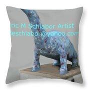 Dino The Bayville Dinosaur Throw Pillow