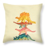 Dinosaur Antics Throw Pillow