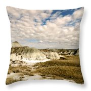 Dinosaur Badlands Throw Pillow