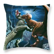 Dinosaur Canyon Throw Pillow