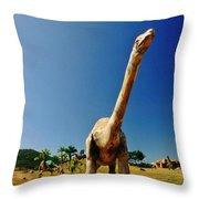 Dinosaur Sculpture One  Throw Pillow