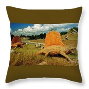 Dinosaur Sculpture Three Throw Pillow