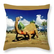 Dinosaur Violence Throw Pillow
