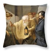 Diogenes Throw Pillow