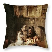 Diomedes Devoured By His Horses Throw Pillow