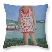 Diosa Del Mar Throw Pillow