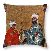 Dioscorides And Student Throw Pillow