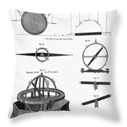 Dipping Needle Compass Throw Pillow